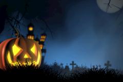 halloween kirkegård