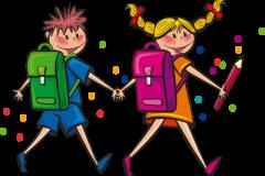 Dreng og pige i skole