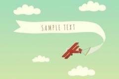 Rød flyvemaskine
